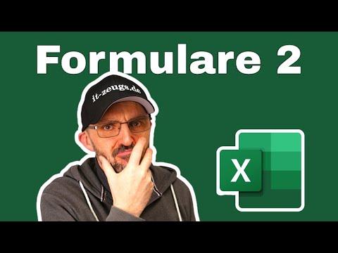 Microsoft Excel: Formulare erstellen 2 [ Fortgeschrittener Einsatz]