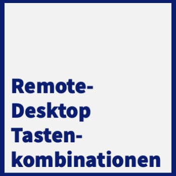 remote-desktop tastenkuerzel