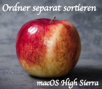 macOS Ordner separat sortieren