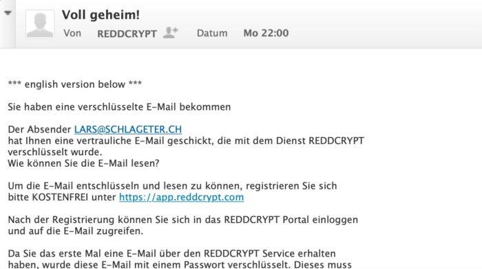 E-Mail verschlüsseln mit reddcrypt