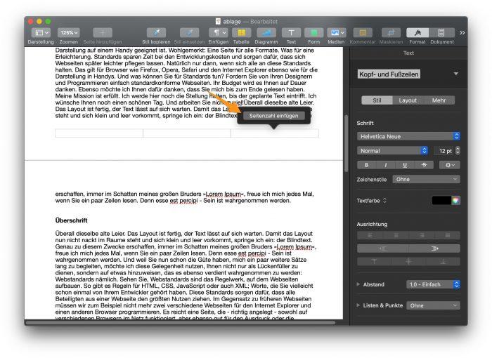 pages-seitenzahl-einfügen