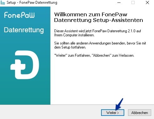 Fonepaw Datenrettung für Windows