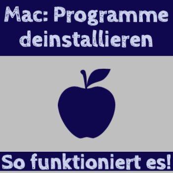 Apple Software deinstallieren