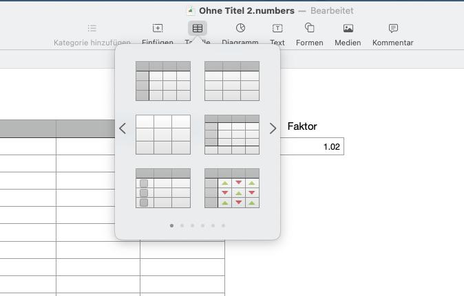 numbers-mehrere-tabellen