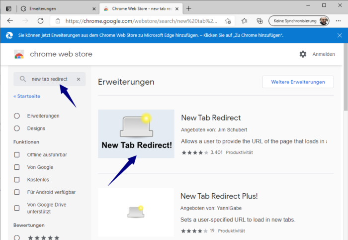 redirect-new-tab-install
