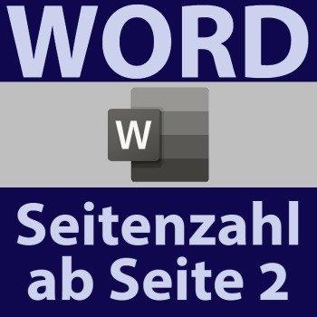 word seitenzahl ab seite 2
