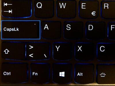 CapsLK-Taste (Dauer-Gross-Schaltung) auf der Schweizer Tastatur