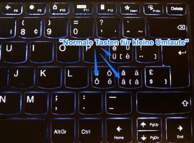 """""""Normale"""" Umlauttasten auf der Schweizer Tastatur"""