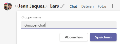 Microsoft Teams - Gruppenchat umbenennen